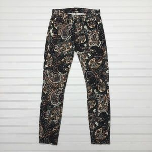 7 For All Mankind Ankle Skinny Paisley Jean Pant